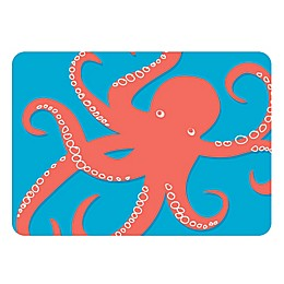 The Softer Side by Weather Guard™ Nautical Octi on Turquoise Kitchen Mat