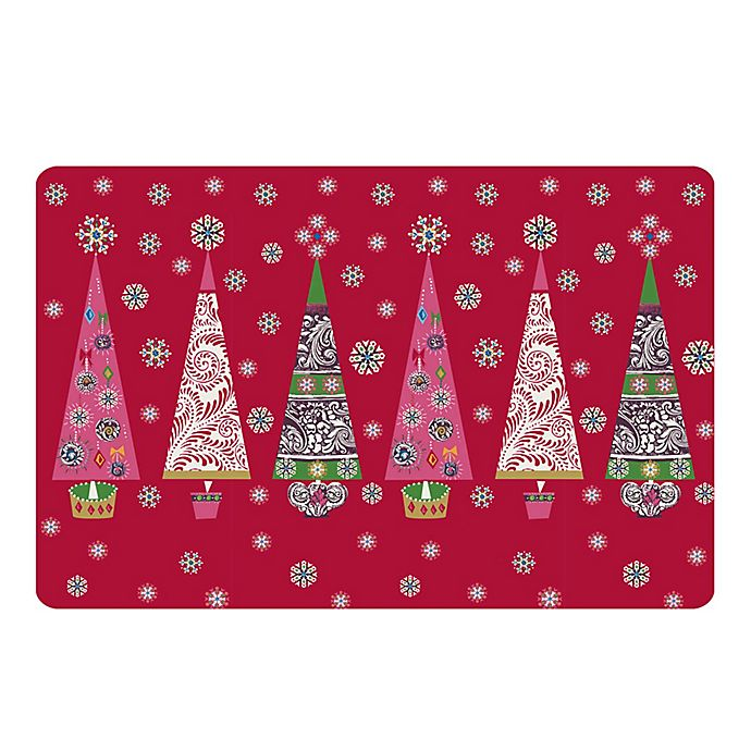 Alternate image 1 for The Softer Side by Weather Guard™ Ornate Trees Kitchen Mat