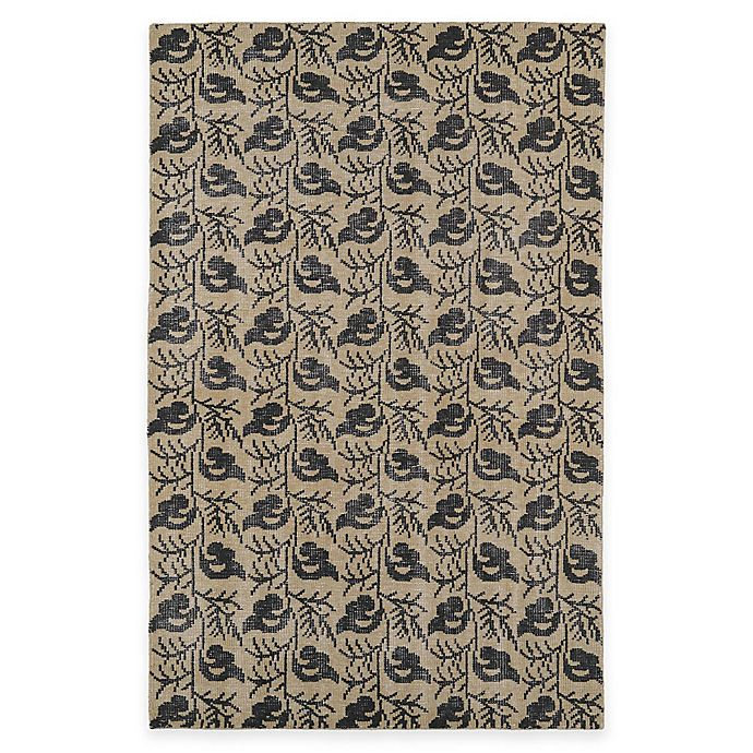 Alternate image 1 for Kaleen Restoration Leaves 5-Foot 6-Inch x 8-Foot 6-Inch Area Rug in Gold