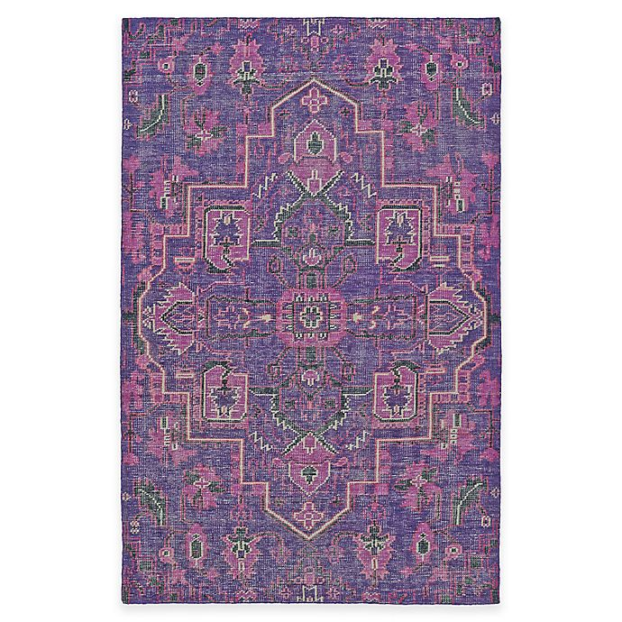 Alternate image 1 for Kaleen Relic Medallion 2-Foot x 3-Foot Accent Rug in Purple