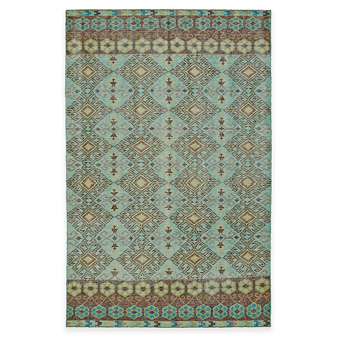 Alternate image 1 for Kaleen Relic Maddox 2-Foot x 3-Foot Accent Rug in Turquoise