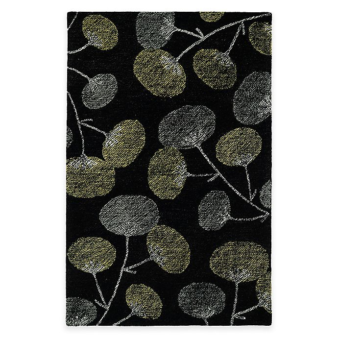 Alternate image 1 for Kaleen Montage Blooms 2-Foot x 3-Foot Accent Rug in Black