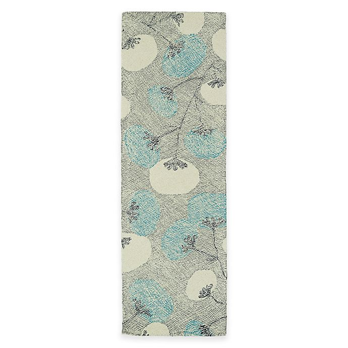 Alternate image 1 for Kaleen Montage Blooms 2-Foot 6-Inch x 8-Foot Runner in Grey