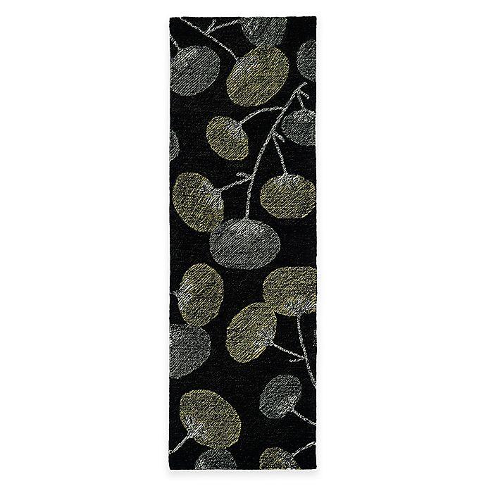 Alternate image 1 for Kaleen Montage Blooms 2-Foot 6-Inch x 8-Foot Runner in Black
