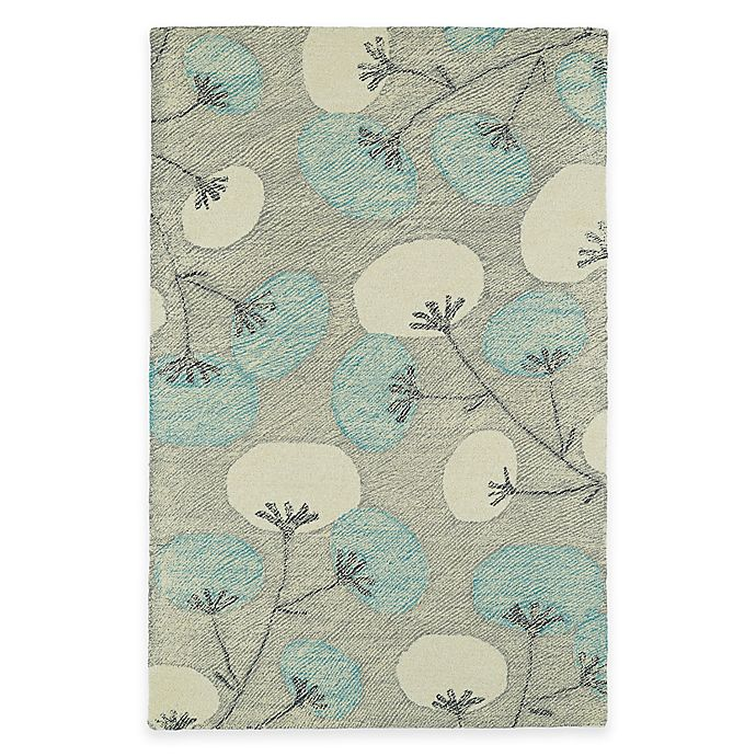 Alternate image 1 for Kaleen Montage Blooms 5-Foot x 7-Foot 9-Inch Area Rug in Grey