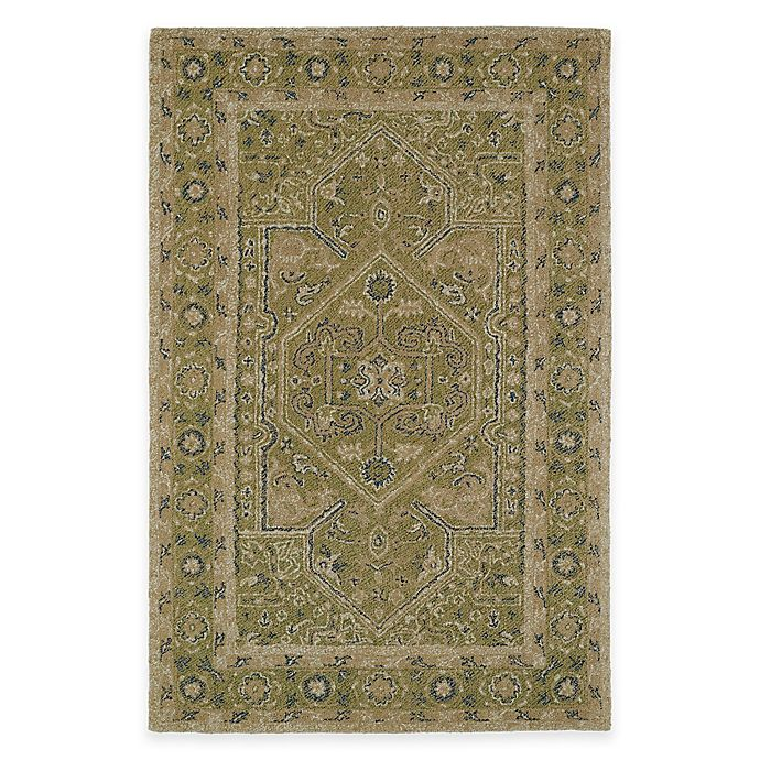 Alternate image 1 for Kaleen Montage Center Medallion 5-Foot x 7-Foot 9-Inch Area Rug in Green