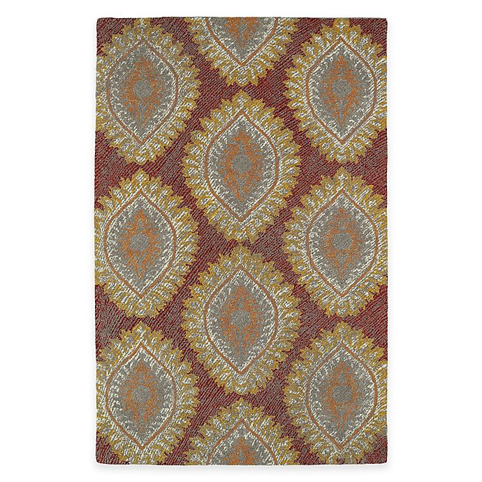 Alternate image 1 for Kaleen Montage Medallions 5-Foot x 7-Foot 9-Inch Area Rug in Red