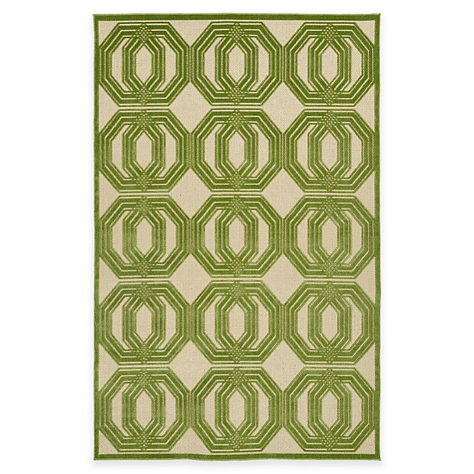 Alternate image 1 for Kaleen A Breath of Fresh Air 3-Foot 10-Inch x 5-Foot 8-Inch Indoor/Outdoor Area Rug in Green