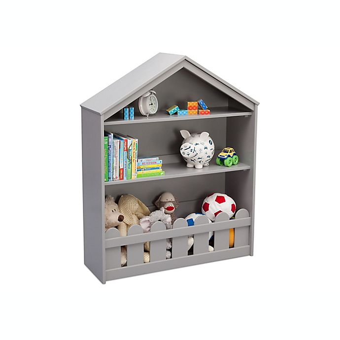 Alternate image 1 for Serta Happy Home Storage Bookcase in Grey