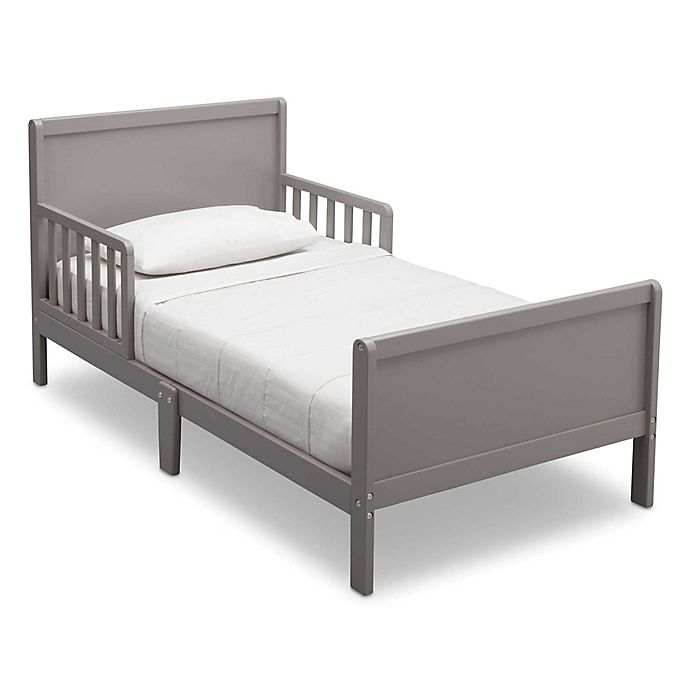 Alternate image 1 for Delta Bianca Children Fancy Wood Toddler Bed in Grey
