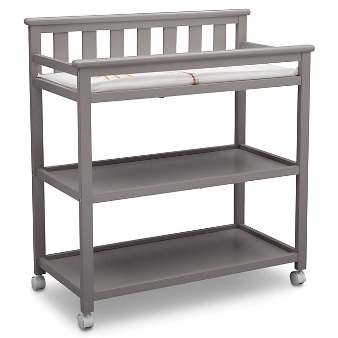 Alternate image 1 for Delta Children Flat Top Changing Table in Grey