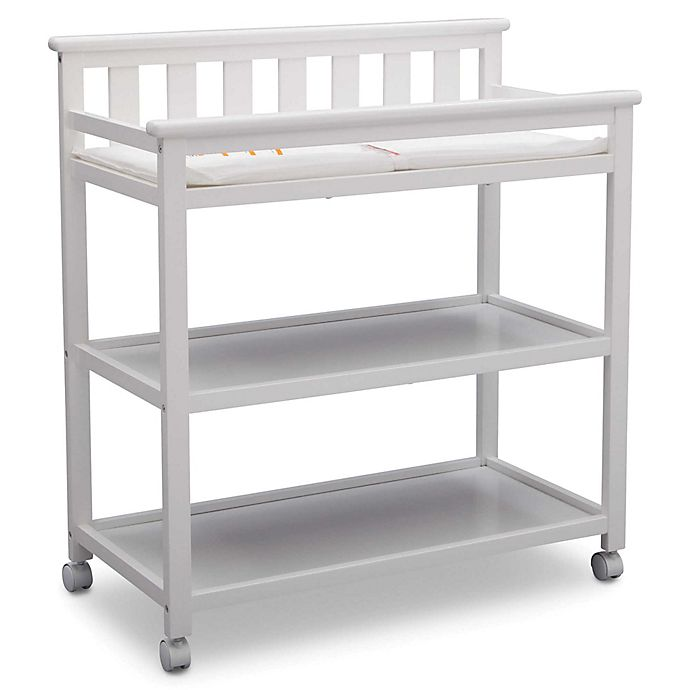 Alternate image 1 for Delta Children Flat Top Changing Table in Bianca White