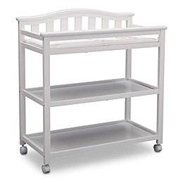 Delta Children Bell Top Changing Table in Bianca White