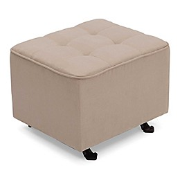 Delta Children Tufted Gliding Ottoman in Beige