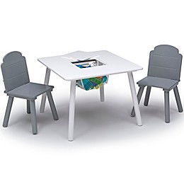 Delta Children Finn 3-Piece Table and Chair Set with Storage