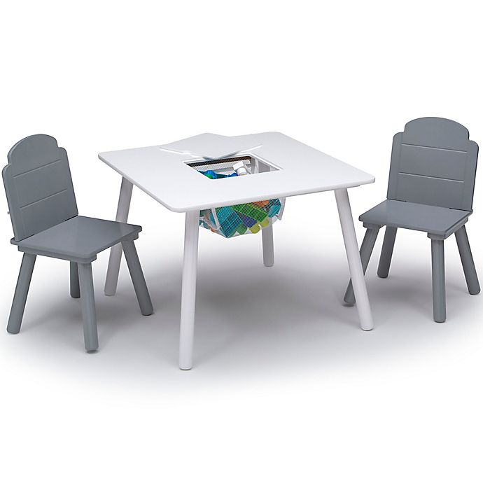 Alternate image 1 for Delta Children Finn 3-Piece Table and Chair Set with Storage