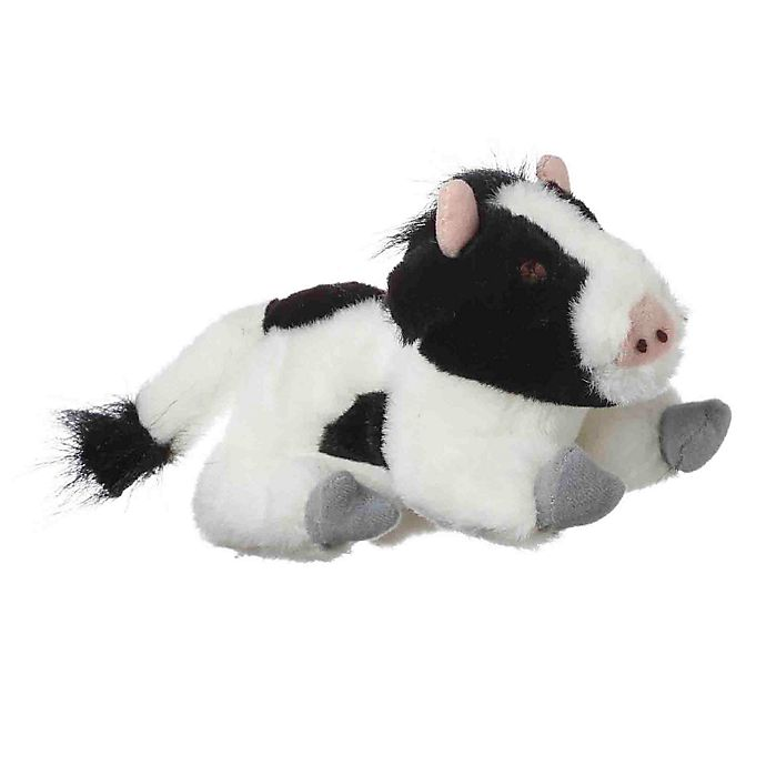 Alternate image 1 for Look Who's Talking Cow Plush Toy in Black/White
