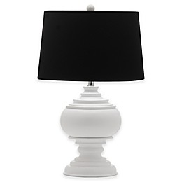 Safavieh Callaway Table Lamp in White with Cotton Shade