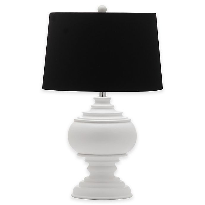 Alternate image 1 for Safavieh Callaway Table Lamp in White with Cotton Shade