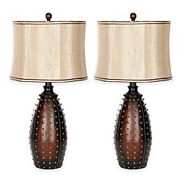 Safavieh Santa Fe Table Lamps in Brown (Set of 2)