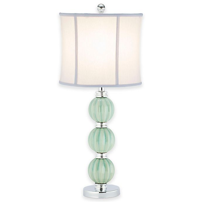 Alternate image 1 for Safavieh Stephanie Green Globe Table Lamp with White Linen Shade