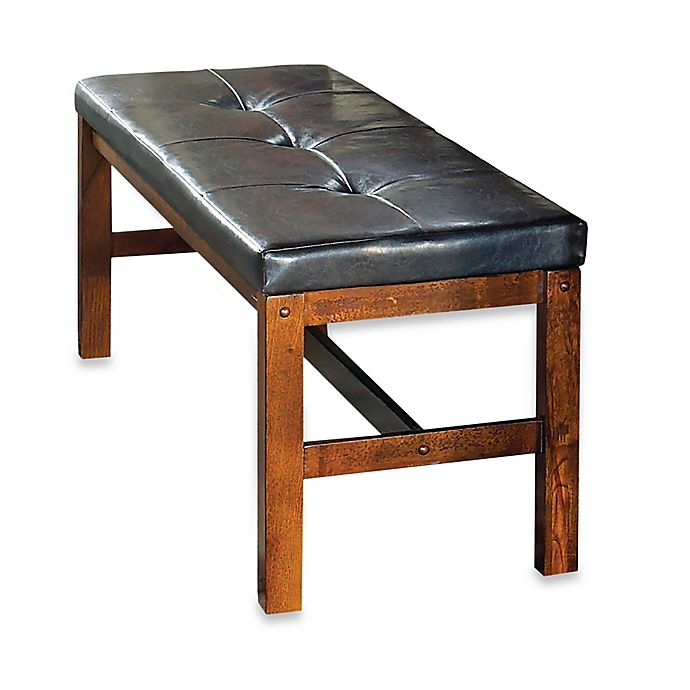 Steve Silver Co Lakewood Dining Bench In Oak Brown Bed