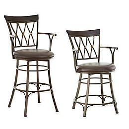Steve Silver Bali Jumbo Swivel Bar and Counter Chairs with Armrest Collection