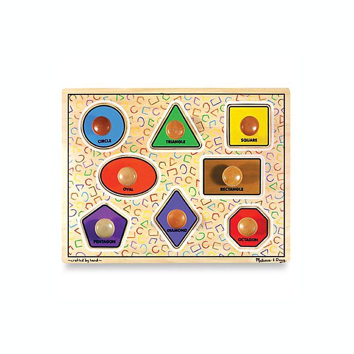 Alternate image 1 for Melissa & Doug® Wooden Jumbo Shapes Knob Puzzle