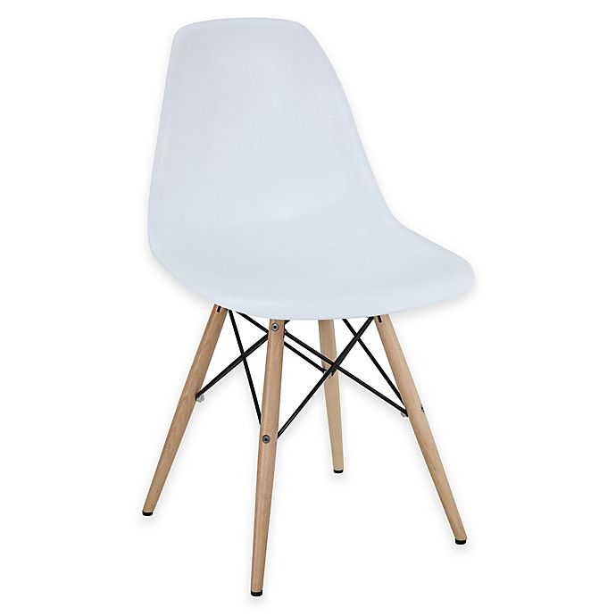Alternate image 1 for Modway Pyramid Dining Side Chair in White