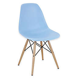 Modway Pyramid Dining Side Chair in Light Blue