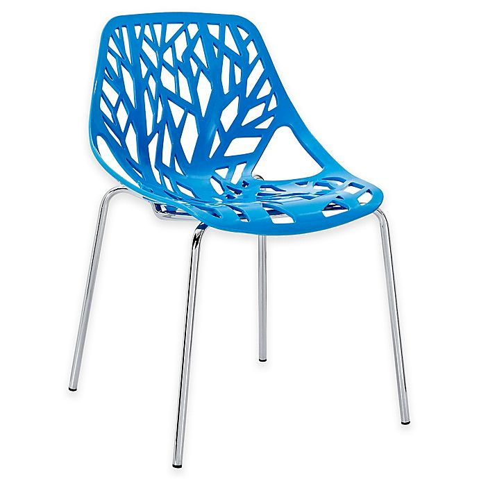 Alternate image 1 for Modway Stencil Dining Side Chair in Blue