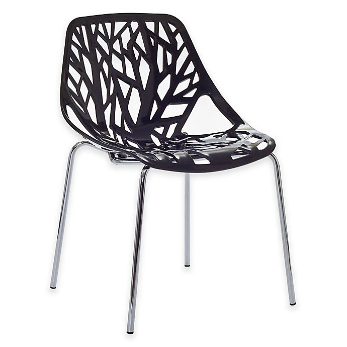 Alternate image 1 for Modway Stencil Dining Side Chair in Black