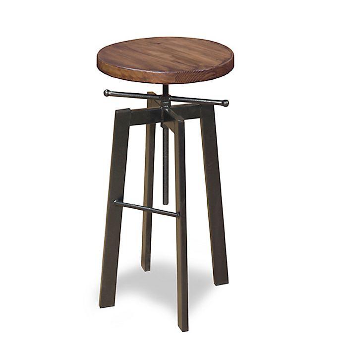 Progressive Furniture Austin Adjustable Stool In Pine