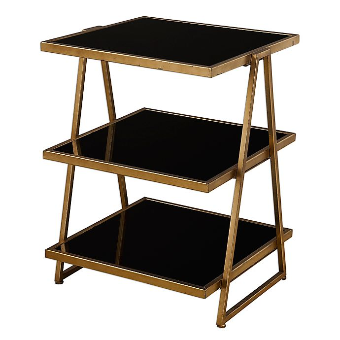 Alternate image 1 for Uttermost Garrity Accent Table in Black Glass