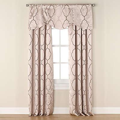 Linnea Embroidered Room-Darkening Window Curtain Panel and Valance