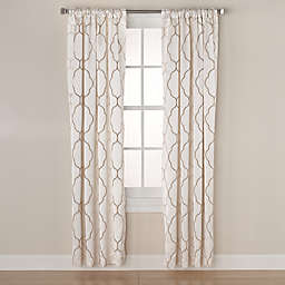 Linnea Embroidered Room-Darkening Window Curtain Panel and Valance