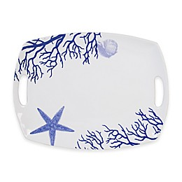 Everyday White® by Fitz and Floyd® Coastal Starfish & Coral 17-Inch Rectangular Platter