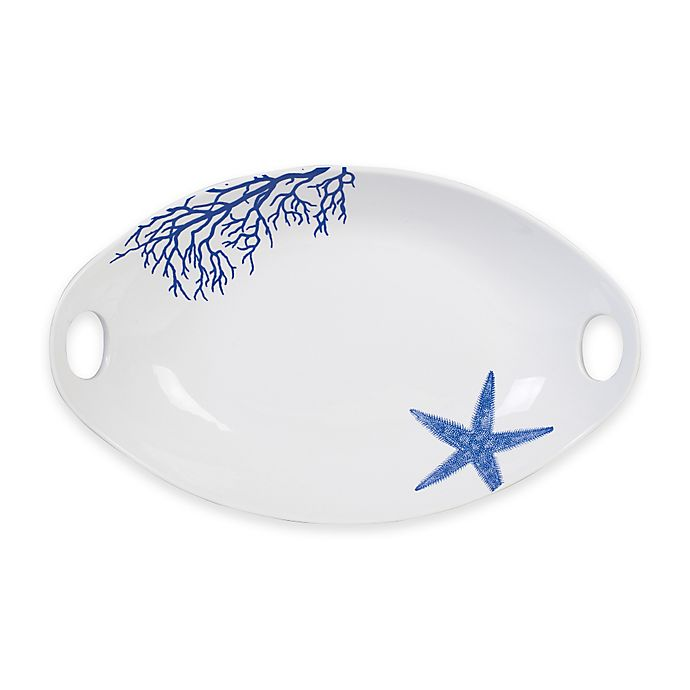 Alternate image 1 for Everyday White®  by Fitz and Floyd® Coastal Starfish & Coral Serve Bowl