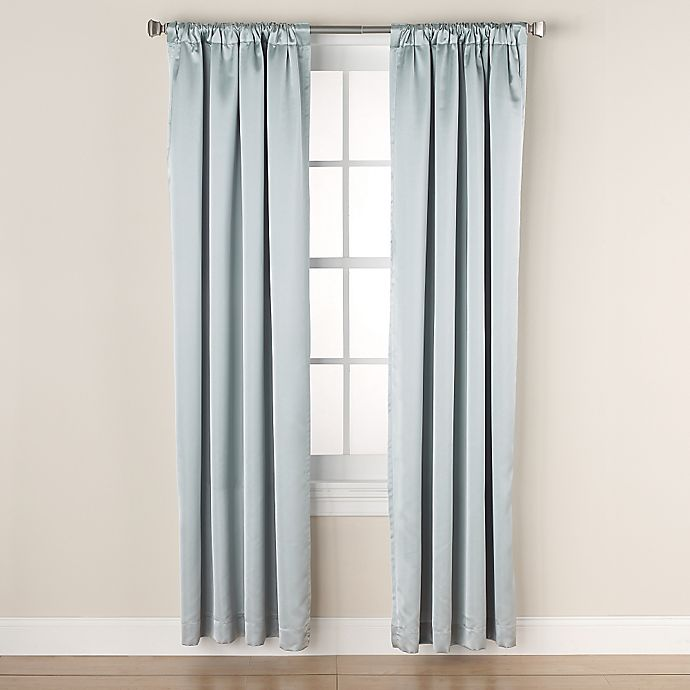 Alternate image 1 for Linnea Rod Pocket/Back Tab Room-Darkening Window Curtain Panel