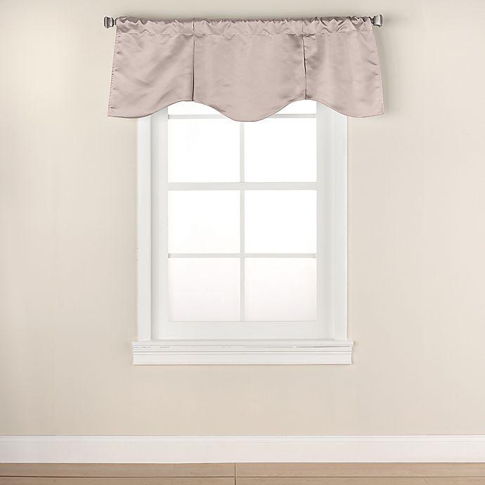 Alternate image 1 for Linnea Scalloped Window Valance in Linen