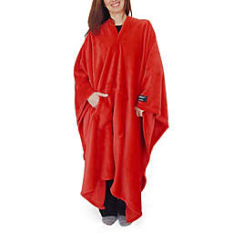 THROWBEE by Kona Benellie® Luxury Throw Blanket/Poncho in Red