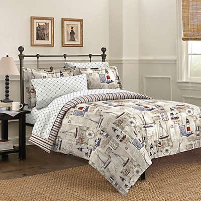 Free Spirit Cape Cod 5-7 Piece Reversible Comforter Set in Blue
