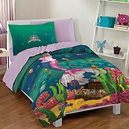 Dream Big Sea Princess 2-Piece Twin Comforter Set in Teal