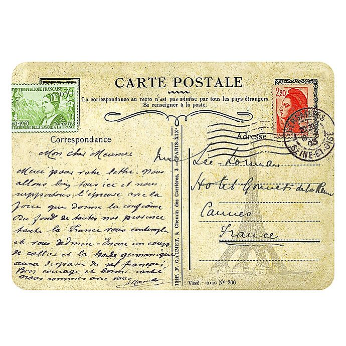 Alternate image 1 for The Softer Side by Weather Guard™ 18-Inch x 27-Inch Parisian Postcard Kitchen Mat