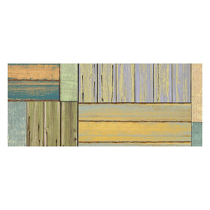 Alternate image 1 for The Softer Side by Weather Guard™ 25-Inch x 60-Inch Patchwork Wood Kitchen Mat