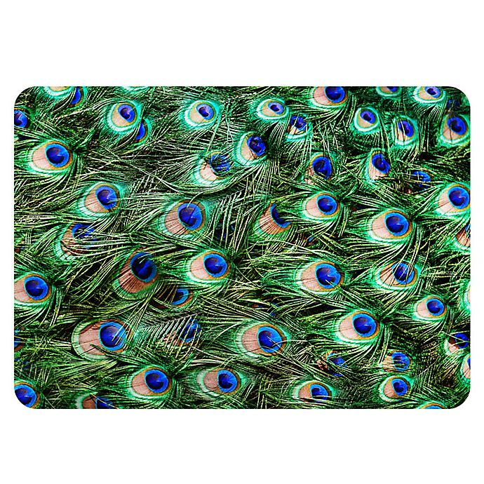 Alternate image 1 for The Softer Side by Weather Guard™ 18-Inch x 27-Inch Peacock Plume Kitchen Mat