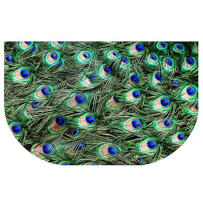 Alternate image 1 for The Softer Side by Weather Guard™ 24-Inch x 40-Inch Peacock Plume Kitchen Mat