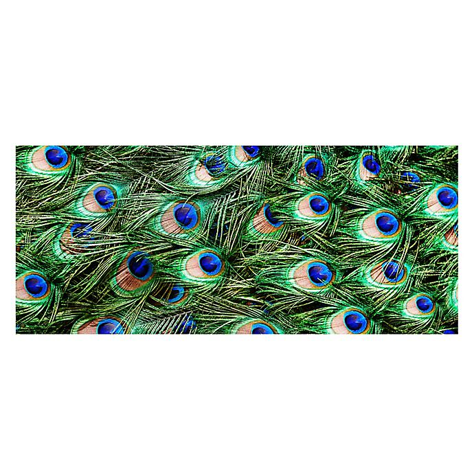 Alternate image 1 for The Softer Side by Weather Guard™ 25-inch x 60-Inch Peacock Plume Kitchen Mat