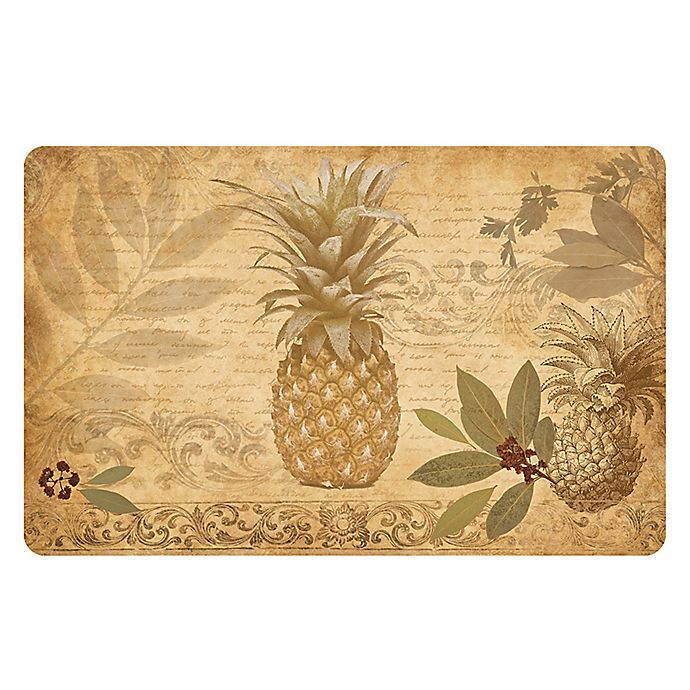Alternate image 1 for The Softer Side by Weather Guard™ 23-Inch x 36-Inch Pineapple Coast Kitchen Mat