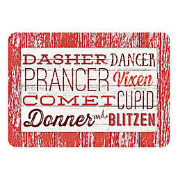 The Softer Side by Weather Guard™ Reindeer Names Kitchen Mat